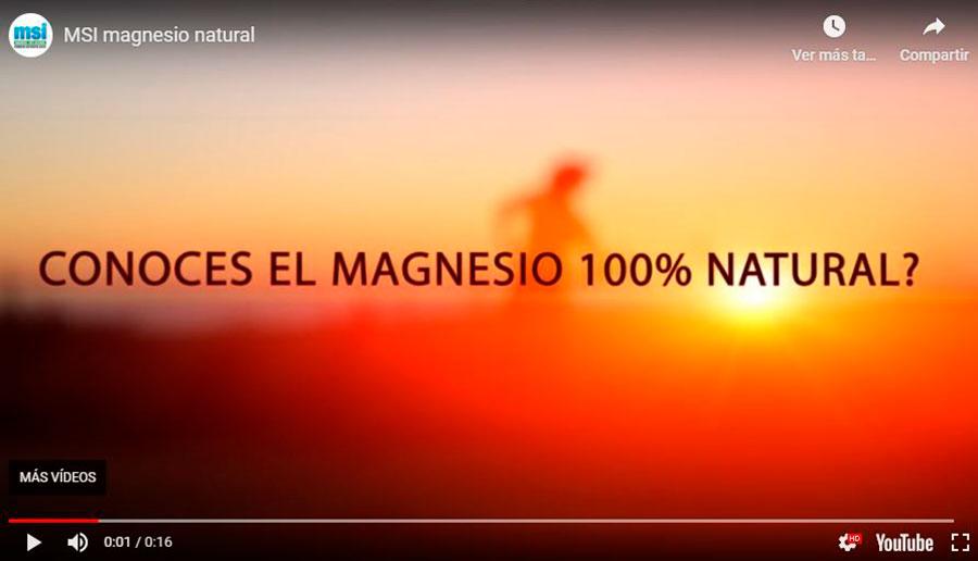 ¿Conoces el Magnesio Natural?