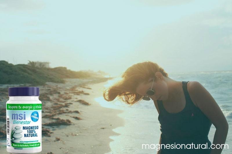 Colágeno con magnesio. Prepara tu piel para el verano