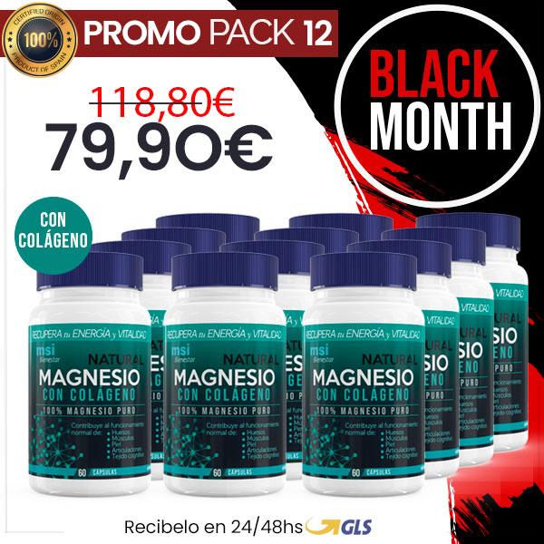 MSI Bienestar. Magnesio Natural con Colágeno | Pack 12 Unidades
