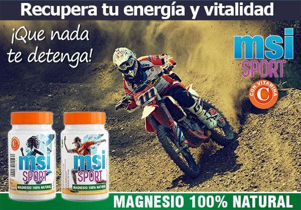 Magnesio Natural con Vitamina C MSI Sport