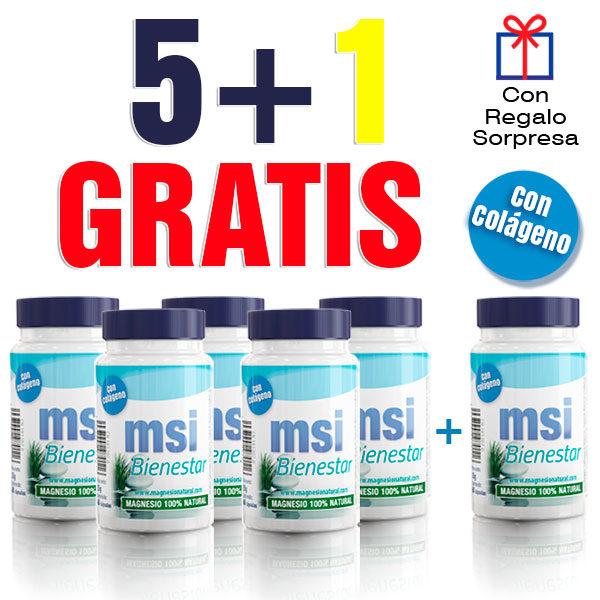 MSI Magnesio Natural con colágeno 5 + 1 GRATIS. Comprar Magnesio.