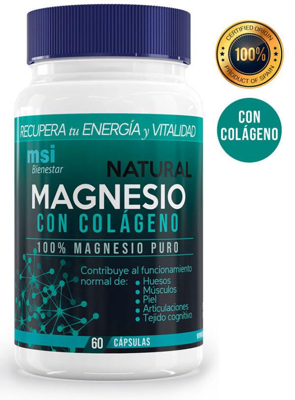 MSI Bienestar. Magnesio Natural con Colágeno.