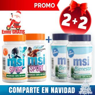 MSI Bienestar Magnesio Natural con Colágeno + MSI Sport Magnesio Natural con Vitamina C