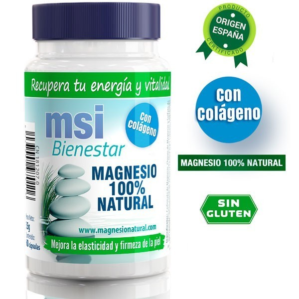 MSI Bienestar Magnesio Natural con Colágeno