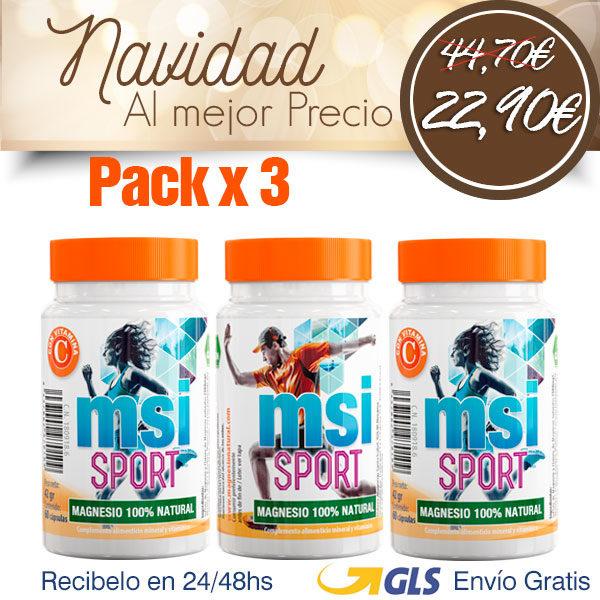Magnesio con Vitamina C - Pack 3 Unidades