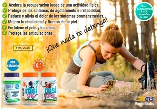 Colágeno con Magnesio │ Magnesio con Vitamina C. Protege las articulaciones, acelera la recuperación luego de una actividad física, Mejora la elasticidad y firmeza de la piel.