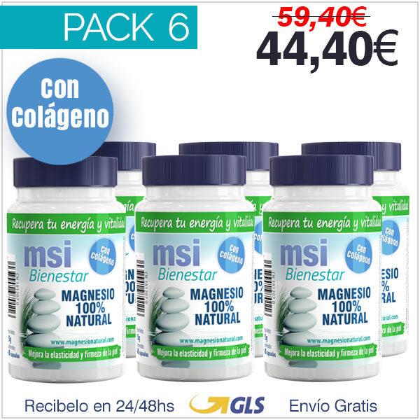 Colágeno con Magnesio - Pack 6 Unidades
