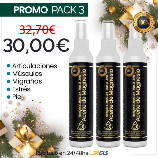 Aceite de Magnesio Natural en Spray - Pack 3