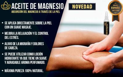 ACEITE DE MAGNESIO: Absorción del Magnesio a través de la piel