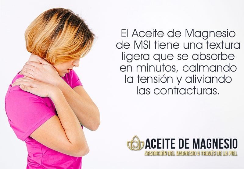 Aceite de Magnesio - Magnesio de uso transdérmico - Absorción del Magnesio a través de la piel