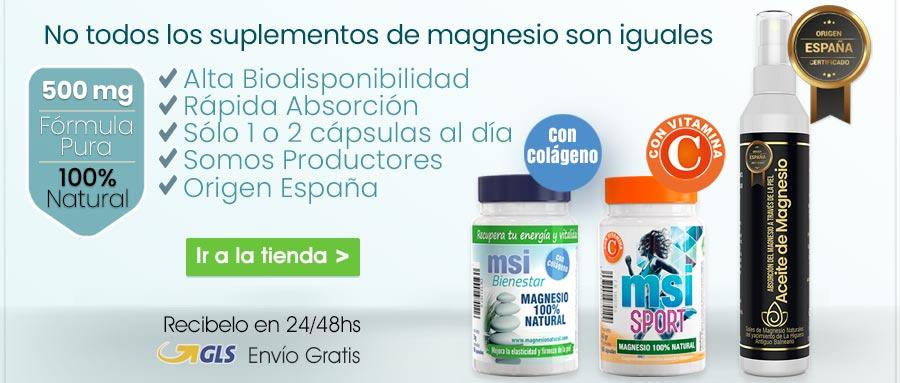 Magnesio Natural. No todos los suplementos de magnesio son iguales. Colágeno con Magnesio. Cloruro de Magnesio