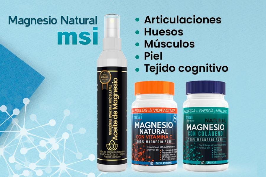 ¿Por qué elegir MSI Magnesio Natural? No todos los suplementos de magnesio son iguales