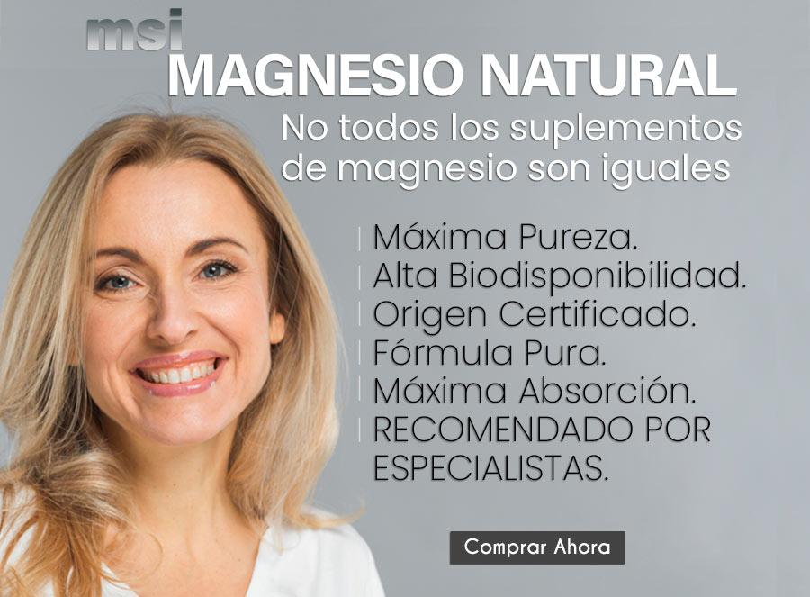 Magnesio Natural - No todos los suplementos de magnesio son iguales